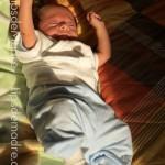 bebé baño sol