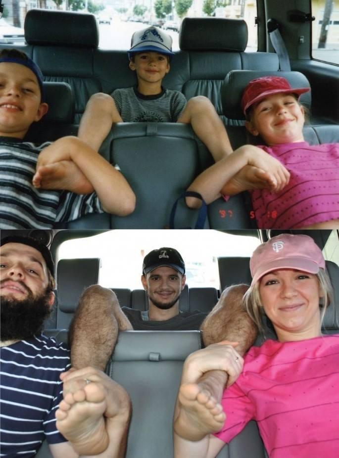 recreacion foto familia