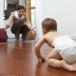 bebe gateo asistido