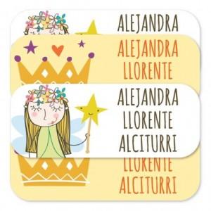 etiquetas para ropa clasicas princesa
