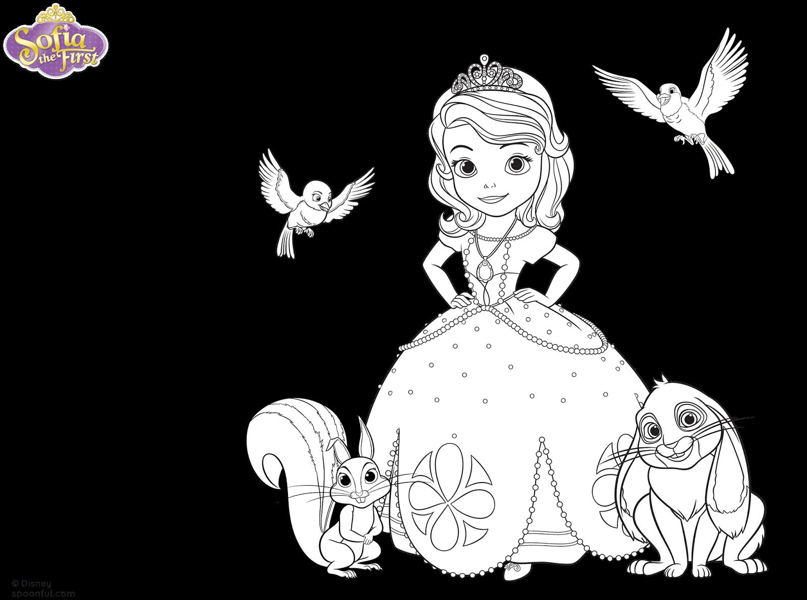 Dibujos Para Colorear La Princesa Sofia Para Ninas Y Ninos