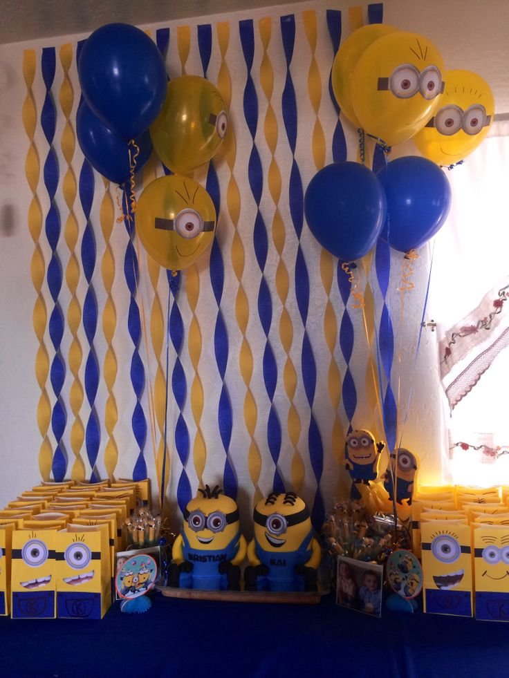 Minions decoracion de fiesta for Decoracion de adornos