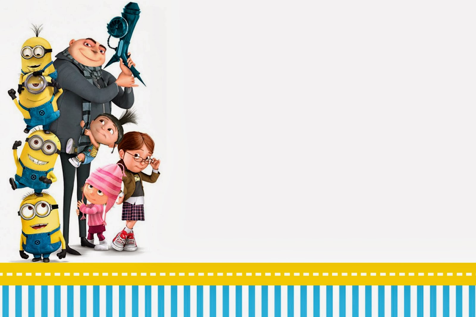 Despicable Me Invitations Printable is perfect invitations sample