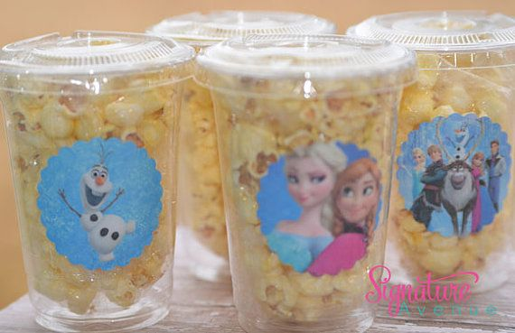 Un cumplea os al estilo de frozen tips de madre - Vasos para cumpleanos infantiles ...