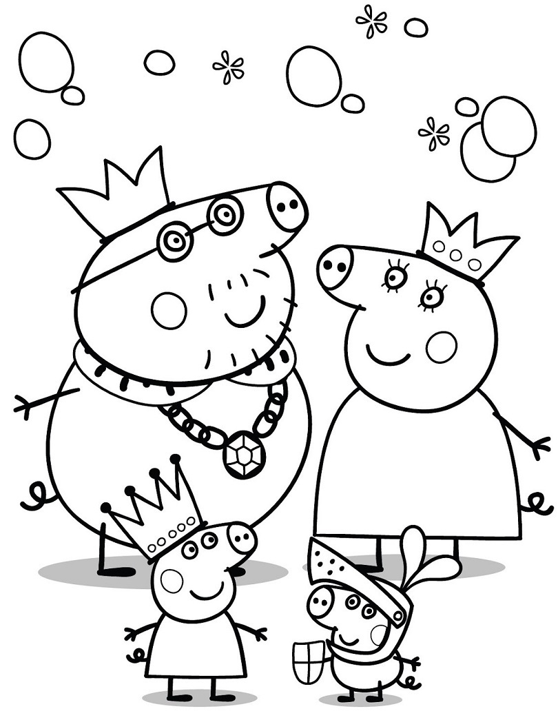Pe peppa pig online coloring pages -  Peppa Dibujo