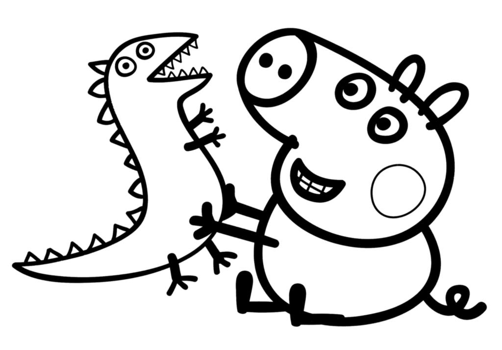 peppa-george-dibujar