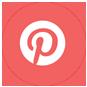pinterest social media icon