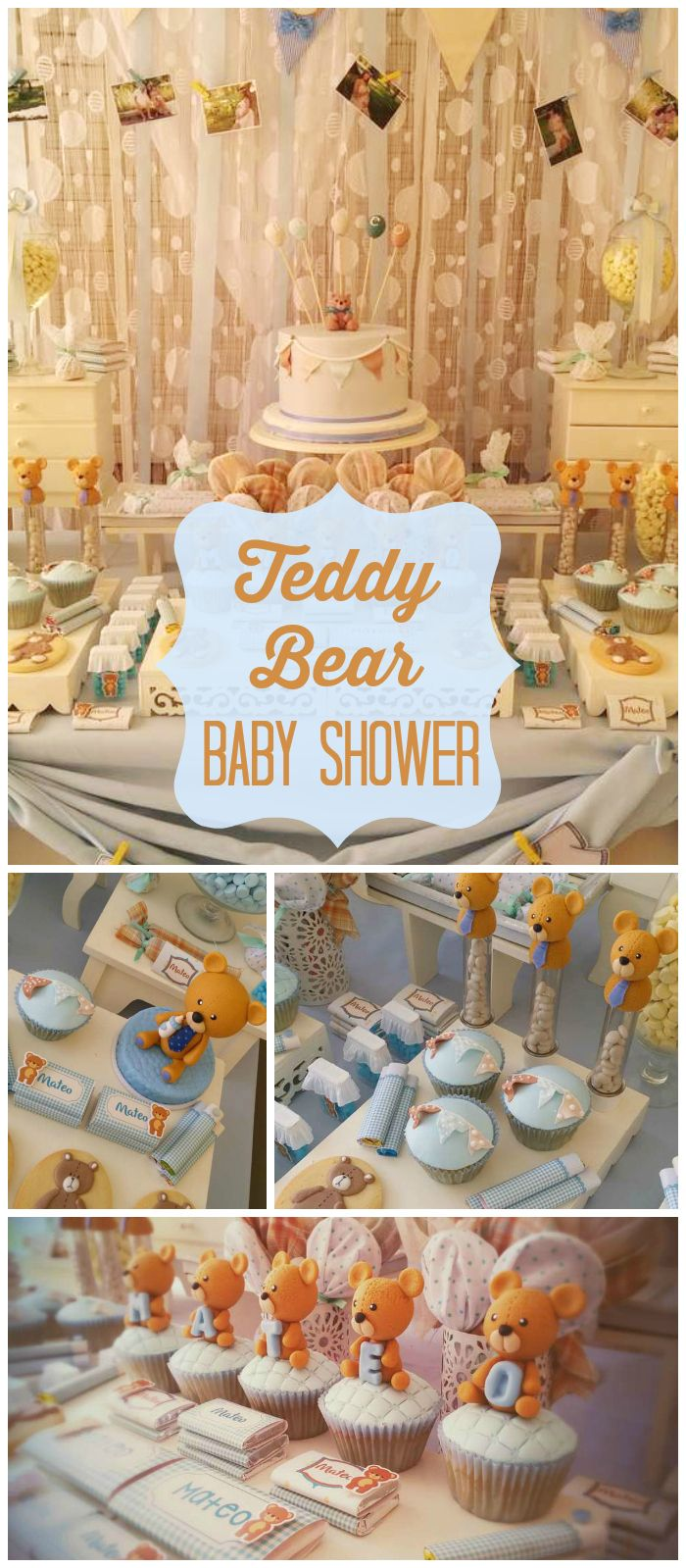 Ideas decorativas para un baby shower para ni o tips de - Mesa de baby shower nino ...