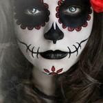 maquillaje mujer dia de muertos