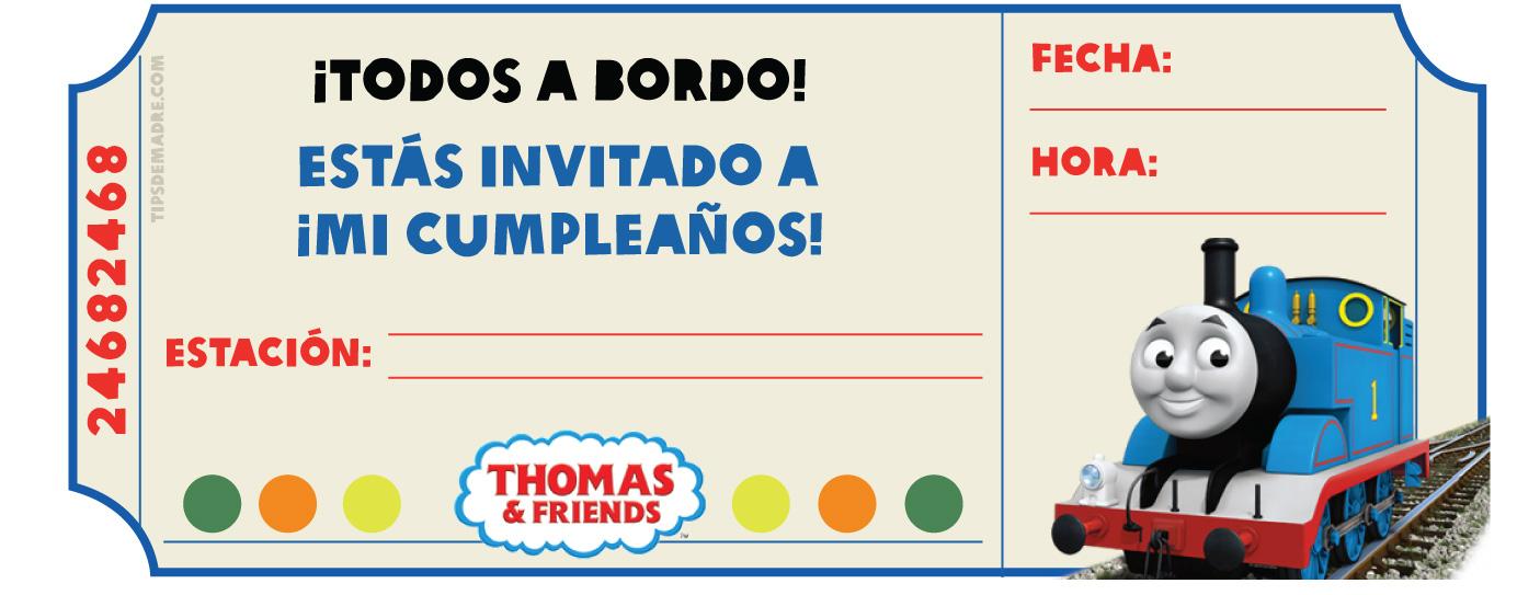 Cumpleaños Con El Tren Thomas Y Sus Amigos Tips De Madre