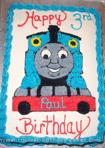 Train Cake Flat Shape