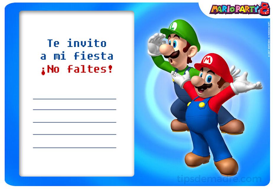 Fiesta infantil de Mario Bros - cumpleaños   Tips de Madre®
