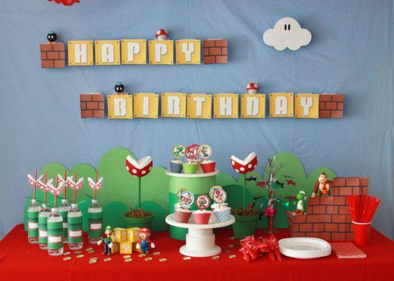 Fiesta Infantil De Mario Bros Cumpleaños Tips De Madre