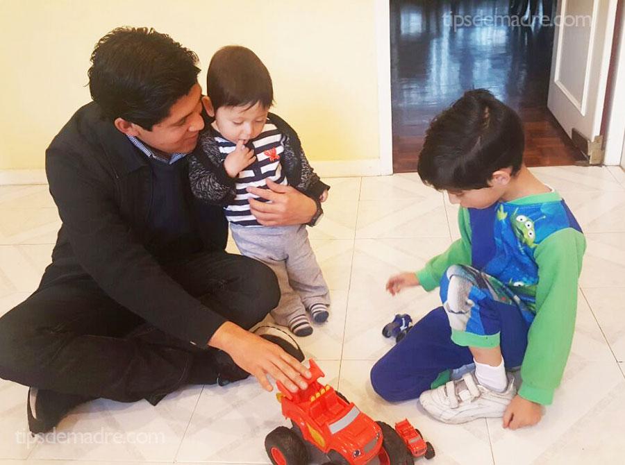 blaze dad and kids