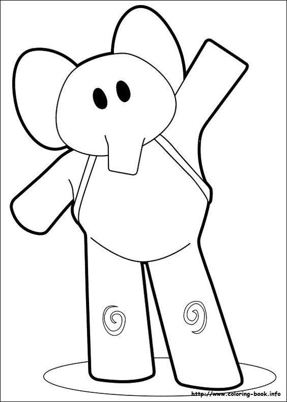 pocoyo-elly-dibujo-colorear | Tips de Madre®