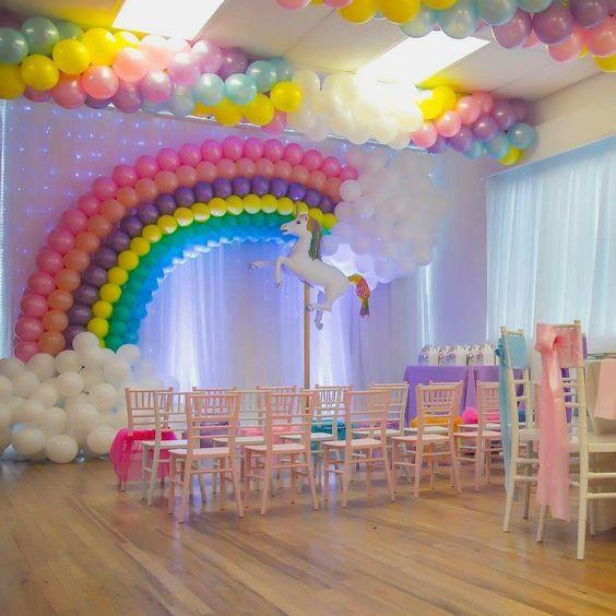 Fiesta de unicornios con bajo presupuesto tips de madre - Ideas decoracion fiesta ...