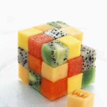 cubo rubik comida