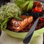 salmon quinoa saludable