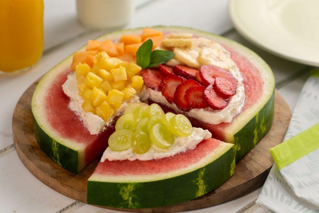 pizza sandia fruta